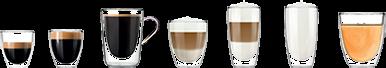szeroki zakres specjałów kawowych