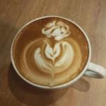 Latte art róża