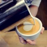 Serce latte art