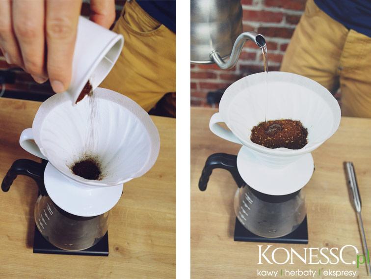 Wsypujemy kawę i zaczynamy proces parzenia