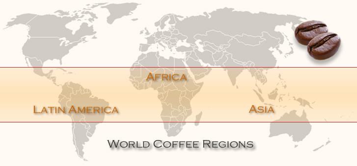 Coffee Belt, czyli obszar w którym uprawiana jest kawa