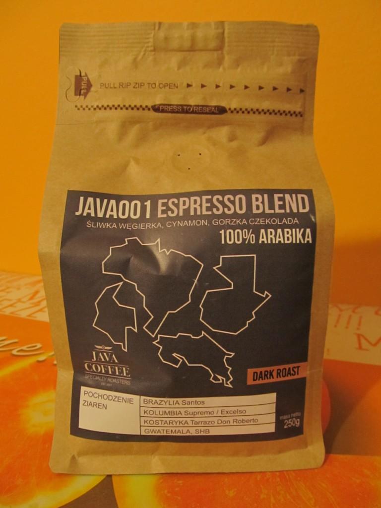 Funkcjonalne i ciekawe opakowanie kawy Java001